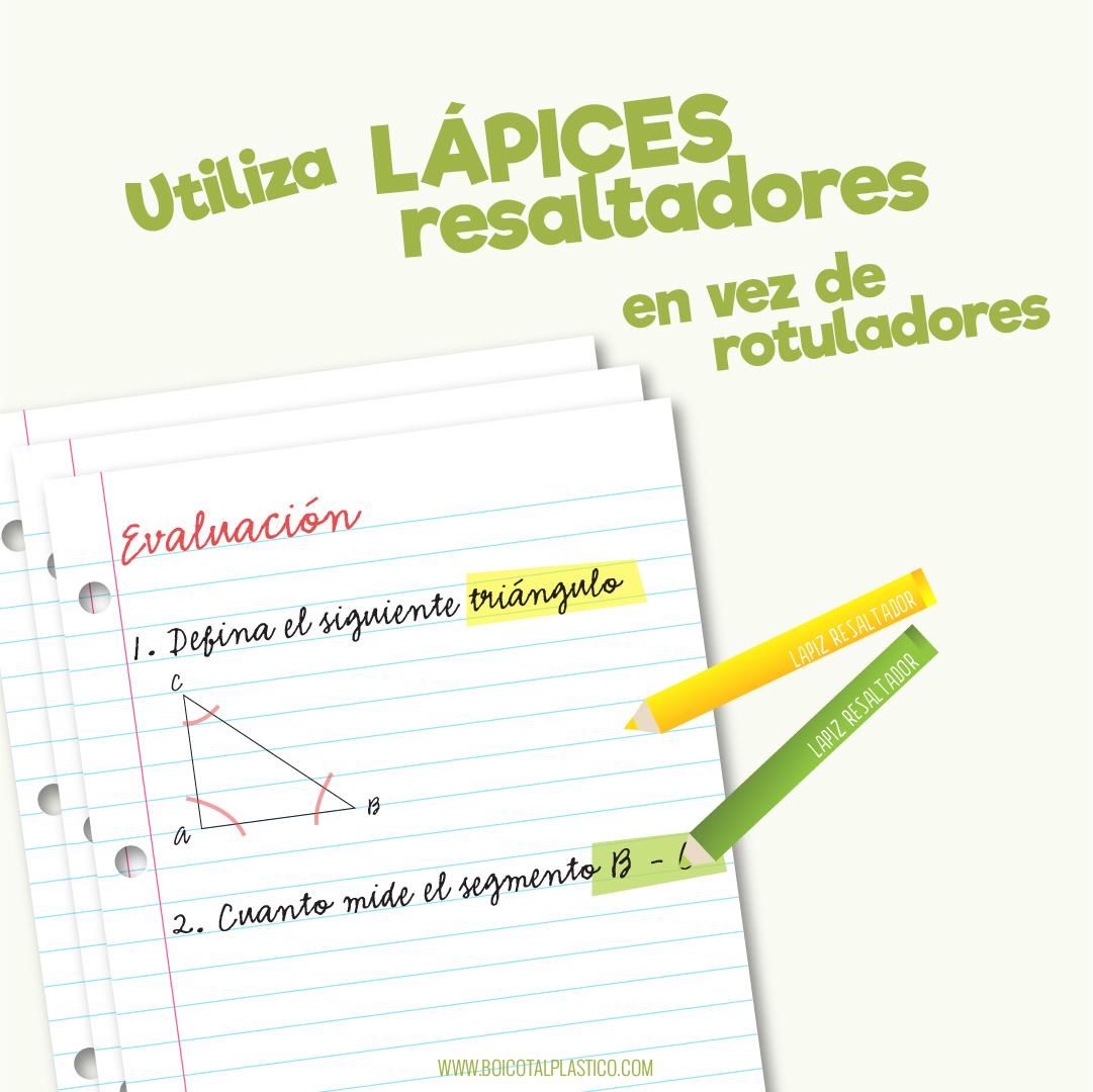 Lápices vs rotuladores