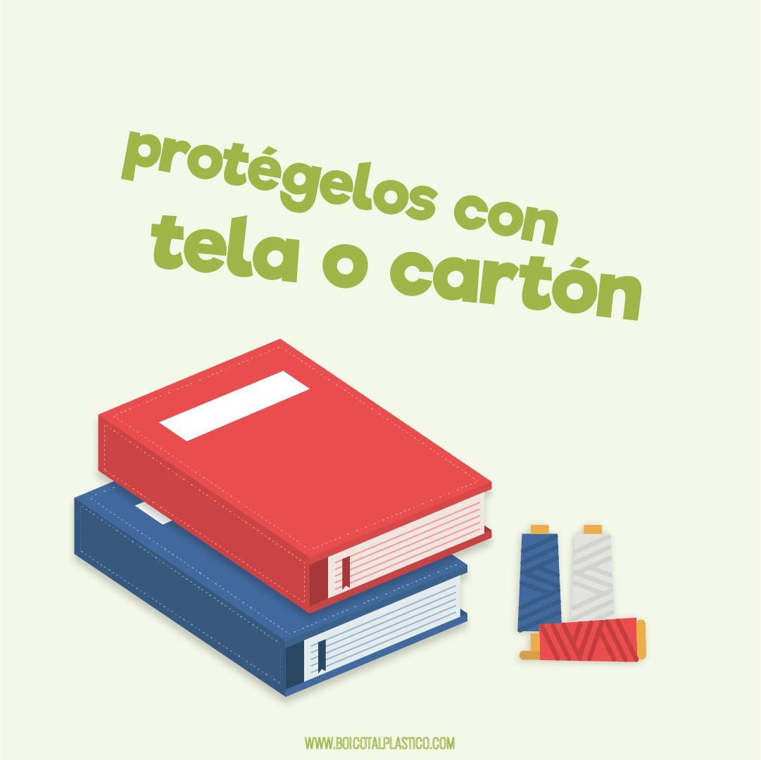 Protege los libros con tela
